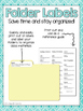 6th Grade ELA & MATH Common Core Standards Folder Labels *
