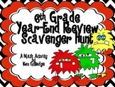 6th Grade End-of-the-Year Math Scavenger Hunt - Common Cor