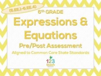 6th Grade Expressions & Equations (6.EE.1 - 6.EE.4) Common