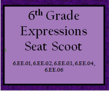 6th Grade Expressions Seat Scoot
