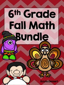 6th Grade Falloween Math Bundle {Growing Bundle}
