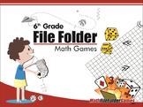 6th Grade File Folder Math Games