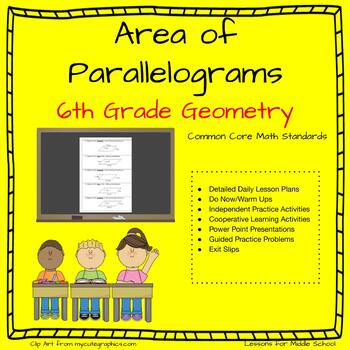 6th Grade Geometry: Area of Parallelograms
