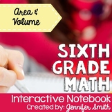 Sixth Grade Interactive Notebook Unit- Area and Volume
