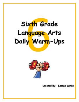 6th Grade Language Arts Daily Warm-Ups