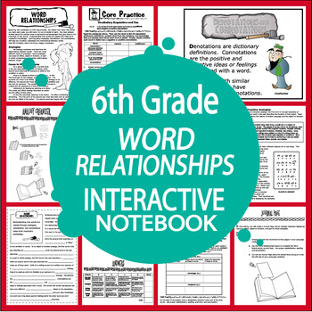 Analogies, Denotations, Connotations Interactive Notebook Lesson