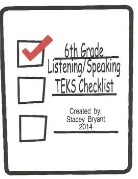 6th Grade Listening/Speaking TEKS Checklist