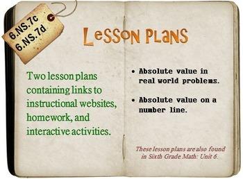 6th Grade Math:  6.NS.7c & 6.NS.7d:  Two Lesson Plans