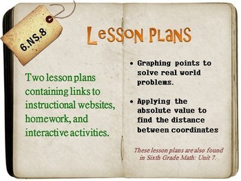 6th Grade Math:  6.NS.8:  Two Lesson Plans