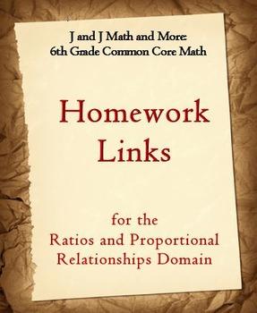 6th Grade Math: 6.RP.1-6.RP.3d:Internet Links to Ratios &