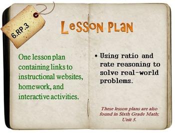 6th Grade Math:  6.RP.3:  One Lesson Plan