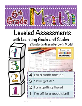 6th Grade Math Assessment (6.RP.1-3) with Marzano Scales - FREE!