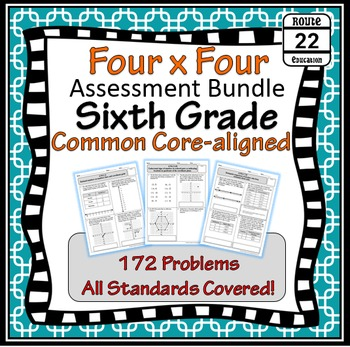 6th Grade Math Common Core Assessments {All Standards Covered}