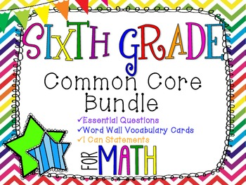 6th Grade Math Common Core Bundle! Everything You Need! *R