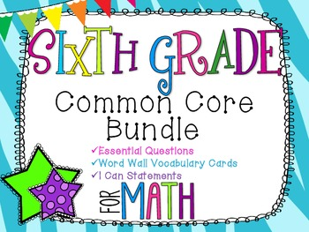 6th Grade Math Common Core Bundle! Everything You Need! *Z