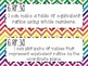 6th Grade Math Common Core *I Can Statements* Rainbow Chevron