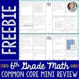 6th Grade Math Common Core Mini Review