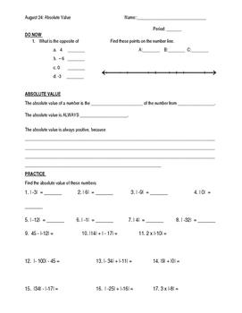 6th Grade Math Common Core Practice Math Sheets