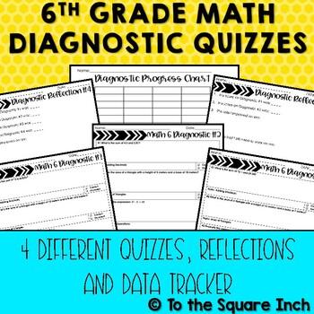 6th Grade Math Diagnostic Quizzes