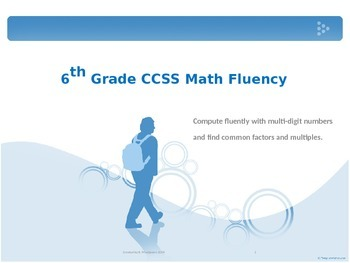 6th Grade Math Fluency Daily Practice (6.NS.2, 6.NS.3, 6.NS.4)