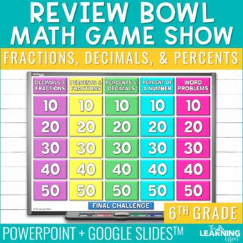 6th Grade Math Game - Fractions, Decimals, & Percents