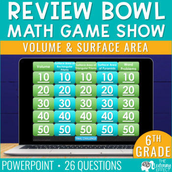 6th Grade Math Game - Volume & Surface Area