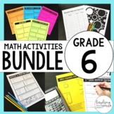 6th Grade Math Curriculum Resources Mega Bundle {Common Core}