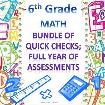 6th Grade Math Quick Checks Bundle