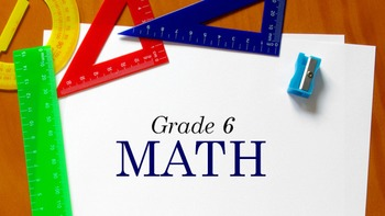 6th Grade Math - Rational Numbers