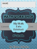 6th Grade Math Student Data Notebook {COMMON CORE}