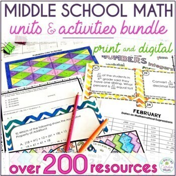 6th Grade Math Super Bundle