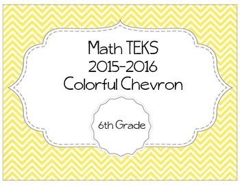 6th Grade Math TEKS - Colorful Chevron