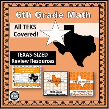 6th Grade Math STAAR Test Prep {Texas Edition}
