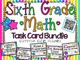 6th Grade Math Task Card Bundle **ALL COMMON CORE DOMAINS**
