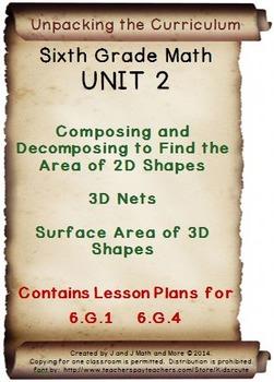 6th Grade Math: Unit 2 Common Core Lesson Plans with Links