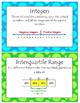 6th Grade Math Vocabulary Word Wall Display Cards