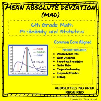 6th Grade Probability and Statistics  - Mean Absolute Devi
