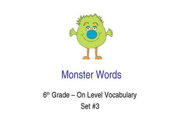 6th Grade On-Level Dolch Words – Set #3 - Special Educatio