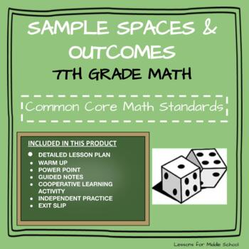 7th Grade Probability and Statistics  - Sample Spaces and