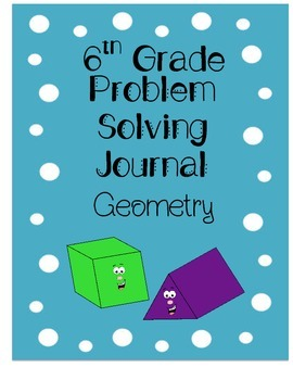 6th Grade Problem Solving Journal - Geometry