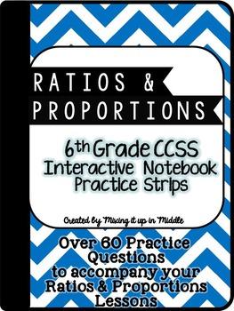 6th Grade Ratios & Proportions Interactive Notebook Practi