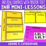Reading Interactive Notebook with Mini Lessons - 6th Liter