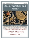 6th Grade Rock Formations & Fossils Unit Plan