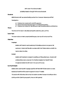 6th Grade SIOP Lesson Plan for Science