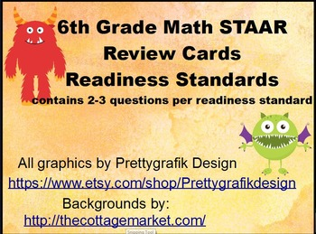 6th Grade STAAR Readiness Standards - Task, Scoot Cards