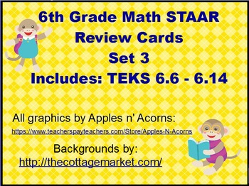 6th Grade STAAR Review Scoot Cards Set 3