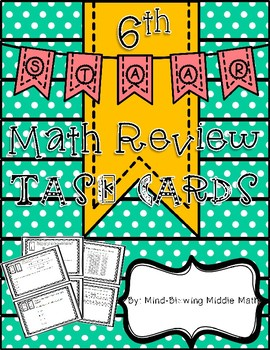 6th Grade STAAR Review - TASK CARDS 30 Readiness Standard