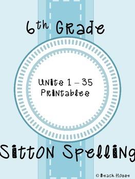 6th Grade Sitton Spelling Mega Bundle - Units 1-35