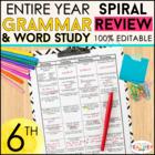 Sixth Grade Language Homework ENTIRE YEAR } EDITABLE
