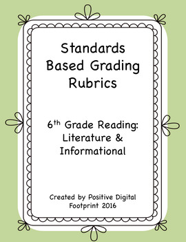 6th Grade Standards Based Rubrics - Reading Lit./Informati